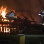 Incendiu izbucnit la acoperișul unei anexe gospodărești din Turdaș lichidat de pompierii din Aiud