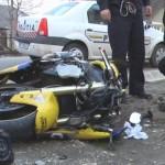 Un motociclist a ajuns în stare gravă la spital după ce a derapat și s-a lovit puternic de carosabil la Poiana Aiudului