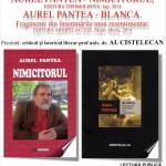 """Aurel Pantea îşi prezintă joi volumele """"Nimicitorul"""" şi """"Blanca"""", la Centrul Cultural """"Liviu Rebreanu"""" din Aiud"""