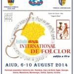 Între 6 și 10 august la Aiud va avea loc cea de-a IV-a ediție a Festivalului Internaţional de Folclor