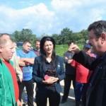 Zeci de locuitori și utilaje au blocat timp de patru ore lucrările de construcție a tronsonului 3 al autostrăzii A10 Sebeș-Turda