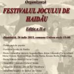 """Duminică: Parada portului popular, dansuri și recitaluri în cadrul celei de-a II-a ediții a """"Festivalului Jocului de Haidău"""""""