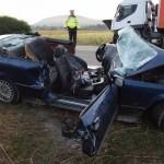 Două persoane au decedat după o coliziune frontală petrecută la ieșirea din Aiud spre Mirăslău