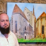 Andrei Bako și-a expus, la Aiud, lucrările de grafică și pictură