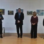 """Expoziția """"Lumini interioare"""" a pictoriței Natalia Bardi fost vernisată, ieri, la Centrul Cultural """"Liviu Rebreanu"""" din Aiud"""