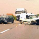 Două autoturisme s-au ciocnit frontal la ieșirea din municipiul Aiud către Alba Iulia