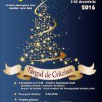 Primăria Municipiului Aiud organizează, între 5 și 23 decembrie 2016, cea de-a cincea ediție a Târgului de Crăciun