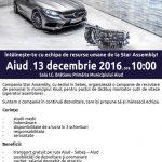 13 decembrie 2016: Campanie de recrutare personal în municipiul Aiud derulată de compania Star Assembly din Sebeș