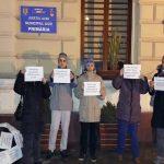 Protest la Aiud pentru cheltuirea responsabilă a banului public