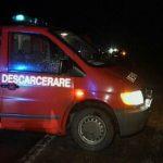 Intervenție a pompierilor militari din Aiud pentru descarcerarea victimei accidentului rutier produs în cursul nopții trecute pe DN1, la Mirăslău