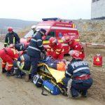 Exercițiu de salvare organizat de ISU Alba, pe șantierul Autostrăzii A10 Sebeș – Turda