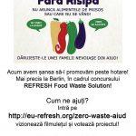 """Proiectul """"Fără risipă"""", inițiat de niște tineri inimoși din Aiud, este finalist în cadrul concursului """"Refresh Food Waste Solution"""" din Germania"""