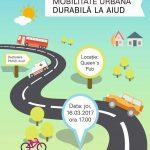 Mâine, 16 martie 2017: Cetățenii din Aiud sunt invitați să dezbată Planul Urban de Mobilitate Durabilă al oraşului