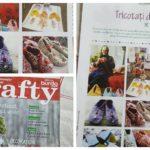 """Povestea Elisabetei Crai, din Vălişoara, care croșetează botoșei vânduți în străinătate a ajuns în paginile revistei de handmade """"Crafty"""""""