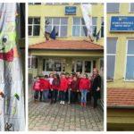 """Elevii clasei I-a B de la Școala Gimnazială """"Axente Sever"""" din Aiud au realizat o Felicitare de Paște inedită, care măsoară nu mai puțin de patru metri"""