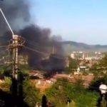 Pagube de 40.000 de lei după ce un garaj a luat foc la Aiud