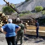 Peste 42 de metri cubi de material lemnos au fost confiscaţi de poliţişti, în urma unui control efectuat la o societate comercială de prelucrare a lemnului, din Aiud