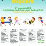 """Între 3 și 7 septembrie 2018 Primăria Aiud vă invită să participați la o nouă ediție a evenimentului """"Săptămâna în mișcare"""""""